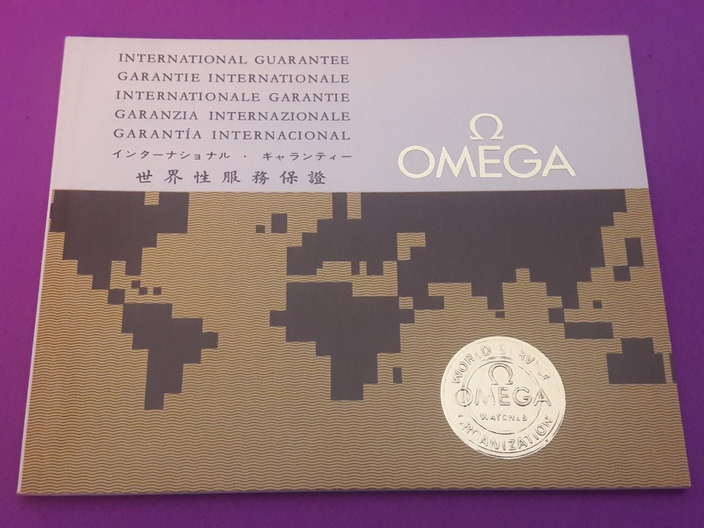 OMEGA 1971 INTERNATIONAL GUARANTEE WARRANTY BOOKLET, NEW, UNUSED, BLANK