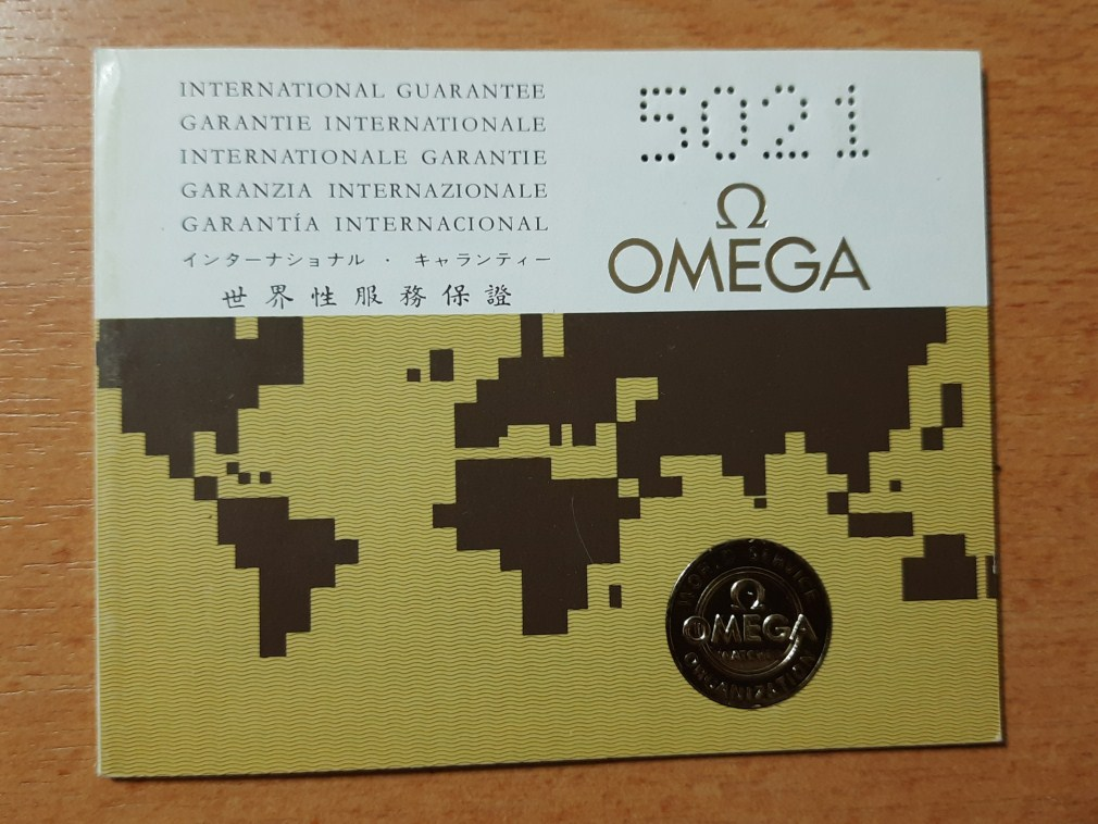 OMEGA 1974 INTERNATIONAL GUARANTEE WARRANTY BOOKLET, NEW, UNUSED, BLANK