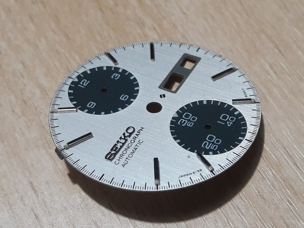 SEIKO CHRONOGRAPH 6138-8020 PANDA DIAL AS IS FOR PARTS