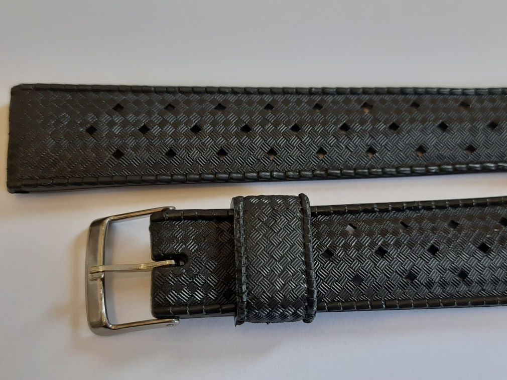 AUTHENTIC NOS 1960'S 18MM TROPIC PERFORATED SWISS BAND STRAP