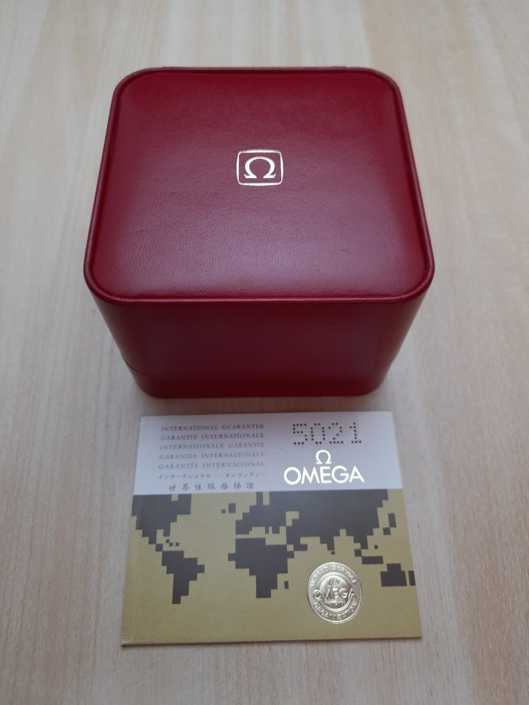 Vintage NOS Omega Red Leather BOX With 1970's Blank Guarantee Booklet