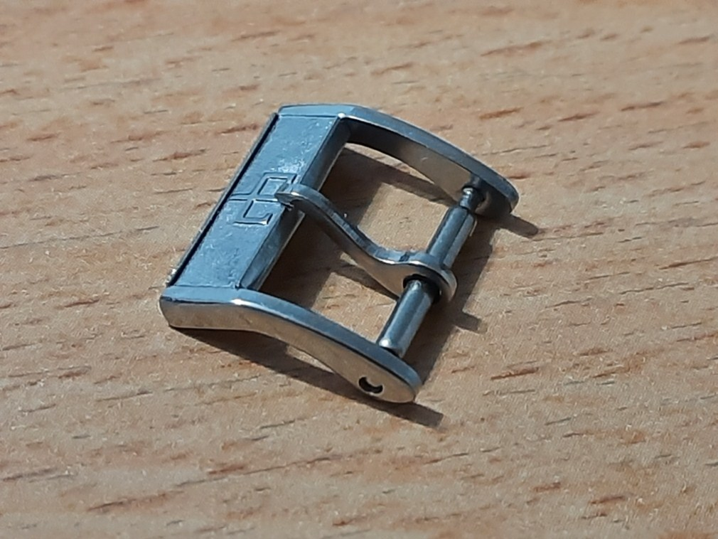 HELVETIA 14MM STAINLESS STEEL NOS GENT'S BUCKLE