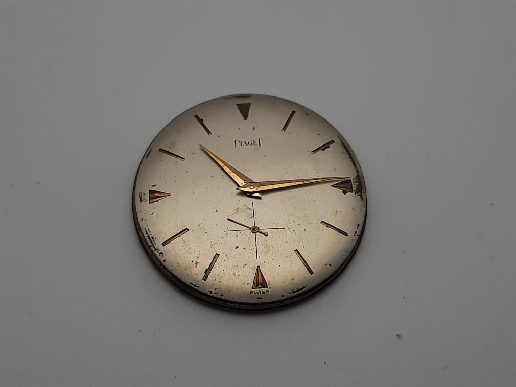 OVER SIZE 34MM PIAGET (DIAL, MVT & HANDS) WORKING FOR PARTS / REPAIR