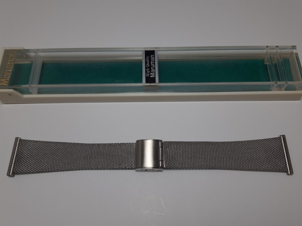 Elegant NOS 1960-70's MARUMAN High Quality Japan Made 22MM S Steel Mesh Bracelet