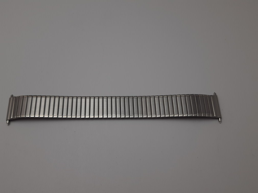 NOS 1960's MARUMAN High Quality Japan 18MM Expandable Flex Stainless Steel Bracelet