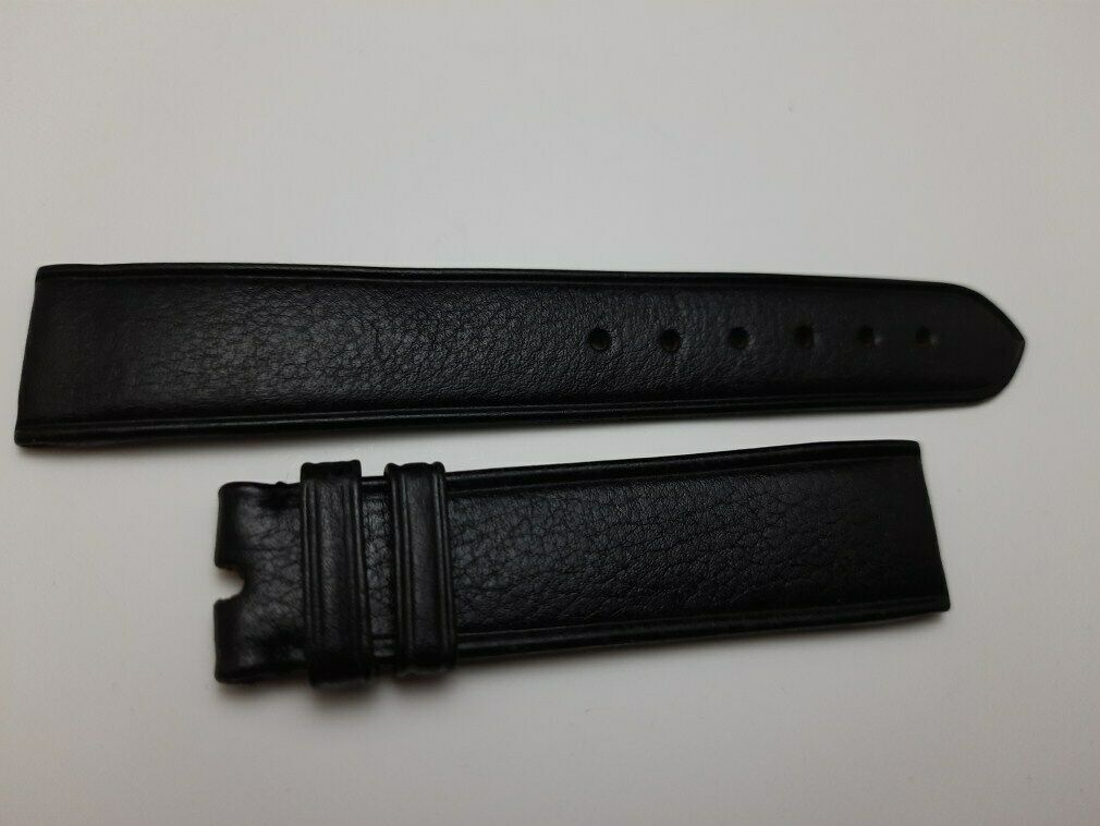 VINTAGE NOS 1970'S 19X18 MM IWC BLACK LEATHER BAND STRAP