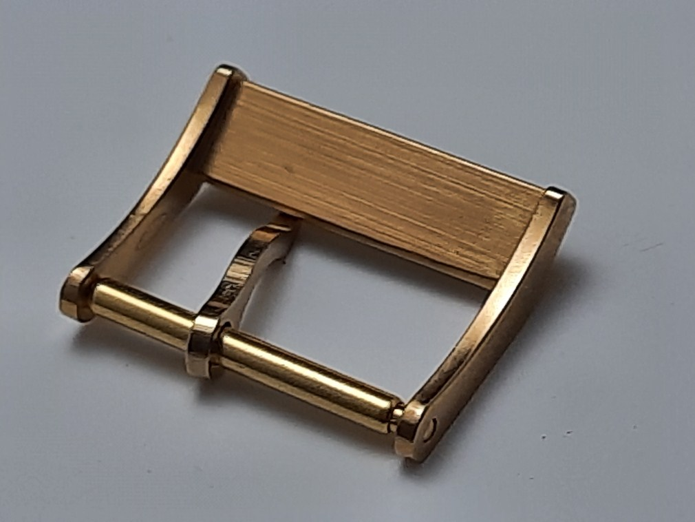VINTAGE 1970'S 16MM CERTINA DS YELLOW GOLD PLATED BUCKLE