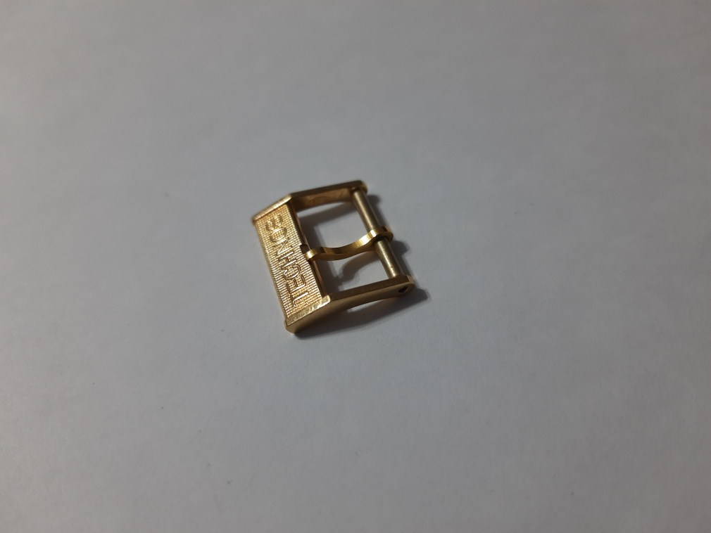 VINTAGE NOS 1970'S TECHNOS14MM YELLOW GOLD PLATED WATCH BUCKLE