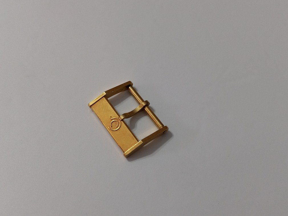 VINTAGE NOS 1960-70'S CERTINA 16MM YELLOW GOLD PLATED WATCH BUCKLE
