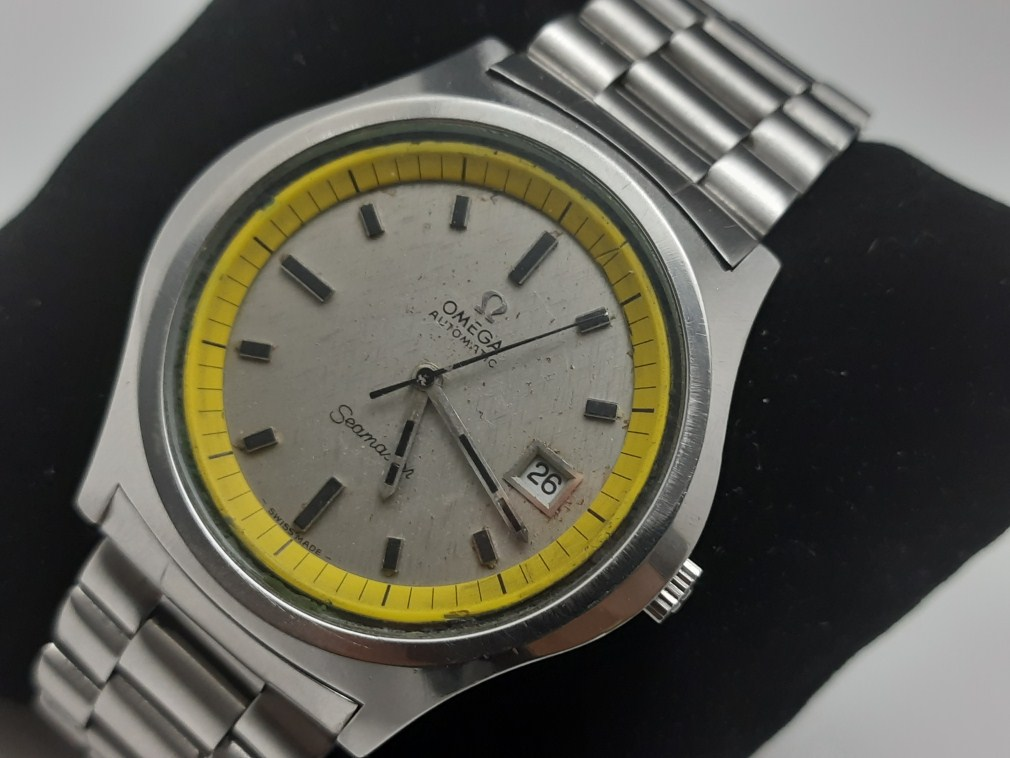 Omega Seamaster 166.092 Big Yellow cal 1002 Sparkle Dial 42 MM
