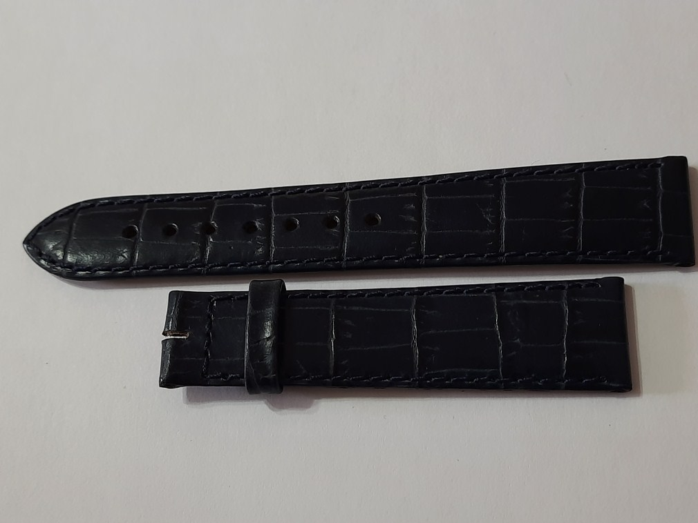 18MM VINTAGE CHOPARD BLUE LEATHER BAND STRAP