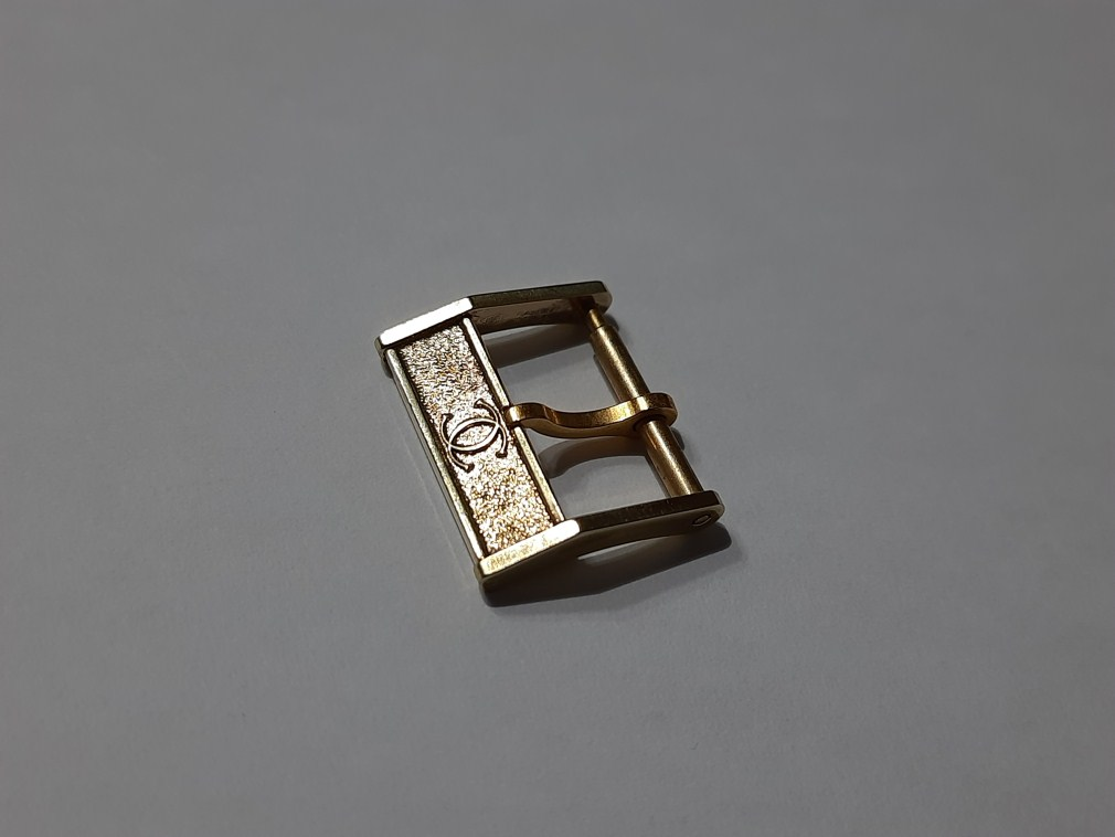VINTAGE 1960-70'S CARTIER 14MM YELLOW GOLD PLATED WATCH BUCKLE