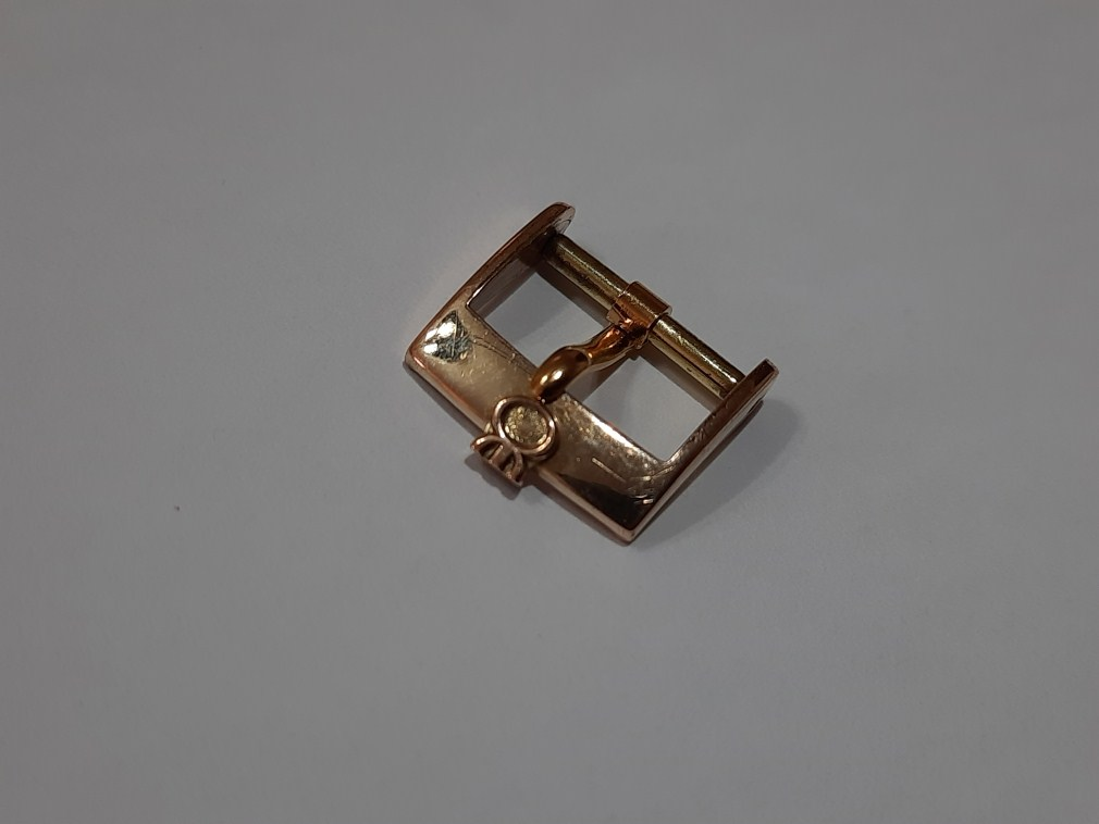 VINTAGE 1960'S MILUS 14MM YELLOW GOLD PLATED WATCH BUCKLE