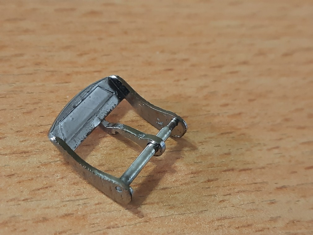 VINTAGE 1960-70'S ENICAR 16MM  CHROME PLATED WATCH BUCKLE - USED