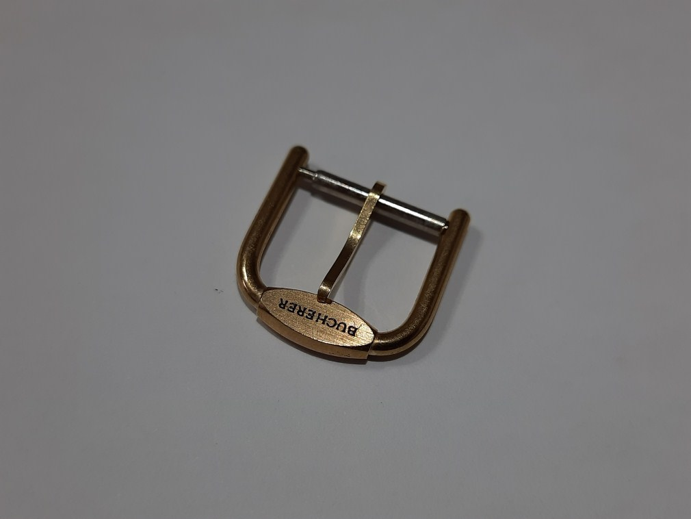 VINTAGE BUCHERER 14MM YELLOW GOLD PLATED WATCH BUCKLE