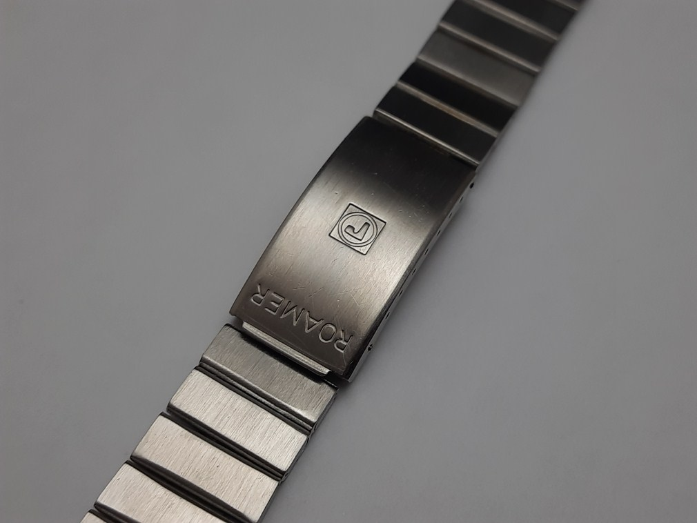 Rare 1960-70's 18mm ROAMER Stainless Steel Bracelet For Stingray Chrono / Diver's