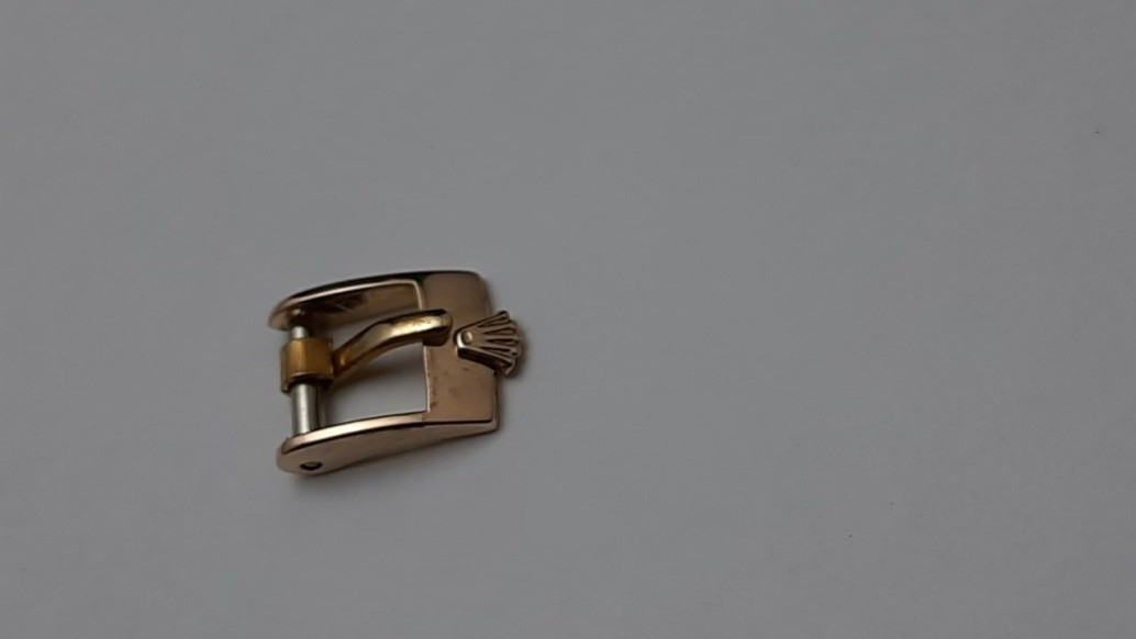 VINTAGE 1950-60'S ROLEX 8MM ROSE GOLD PLATED WATCH BUCKLE